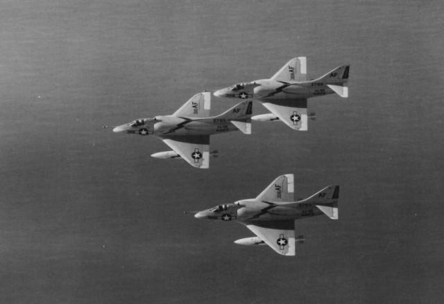 A4D-2 Skyhawks, 3 in Banking Formation